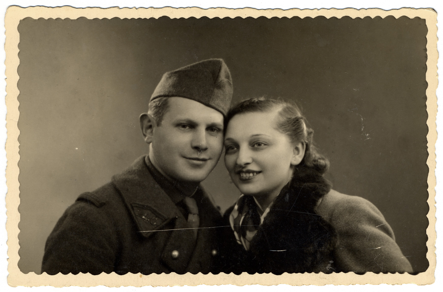 Studio portrait of Maurice and Marguerite Finkelstein, cousins of the donor.