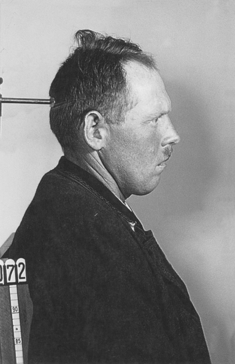 Mug-shot of Leopold Engleitner, a Jehovah's Witness arrested for his religious beliefs.