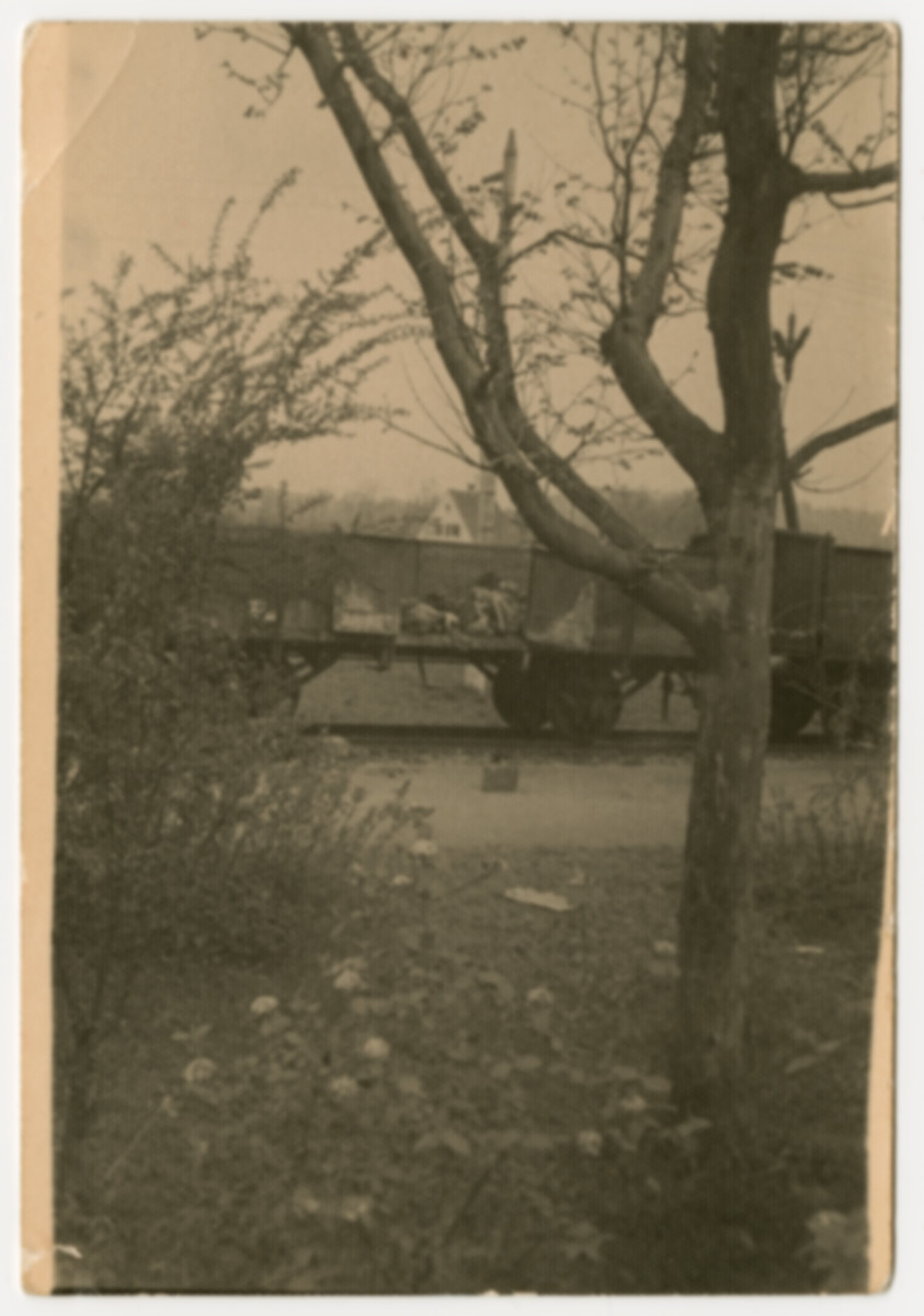 View of the Dachau death train.