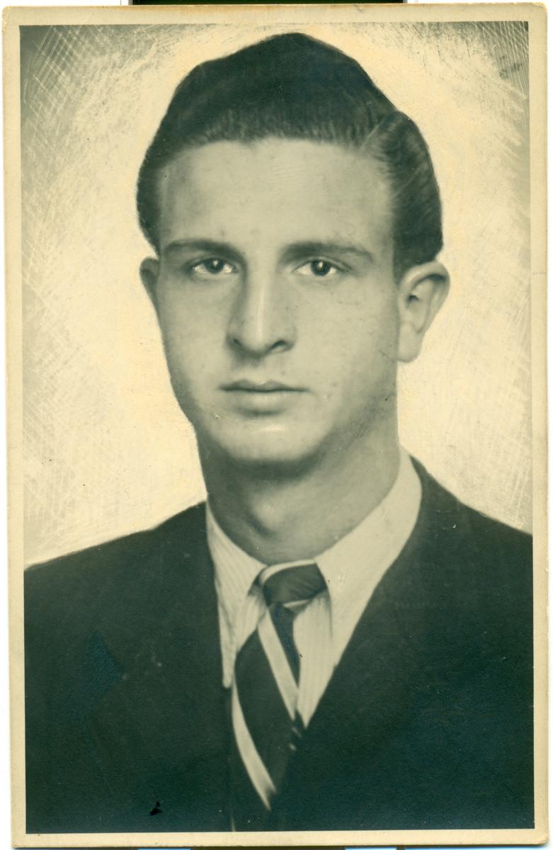Studio portrait of Edouard Arditti taken shortly before his deportation.