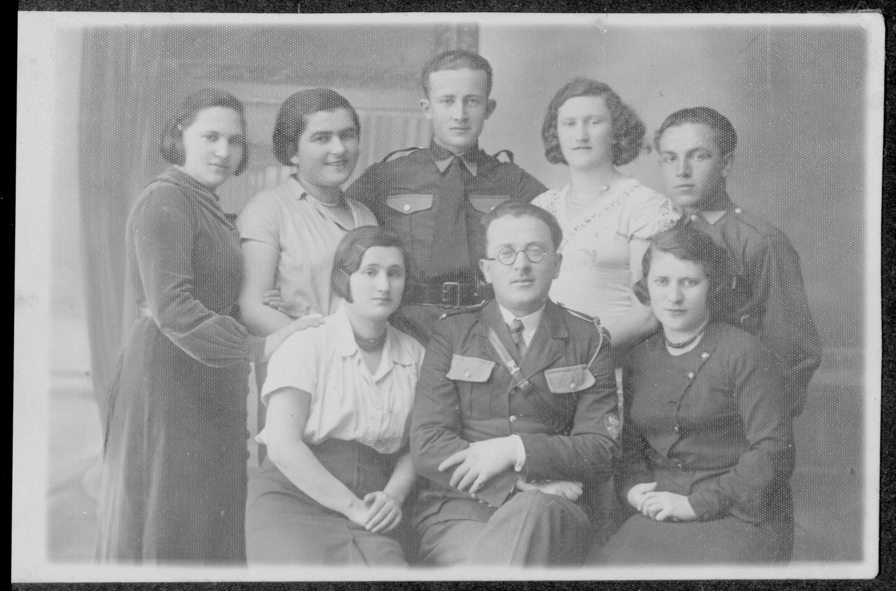 Group portrait of the members of a Zionist hachshara in Lvov.