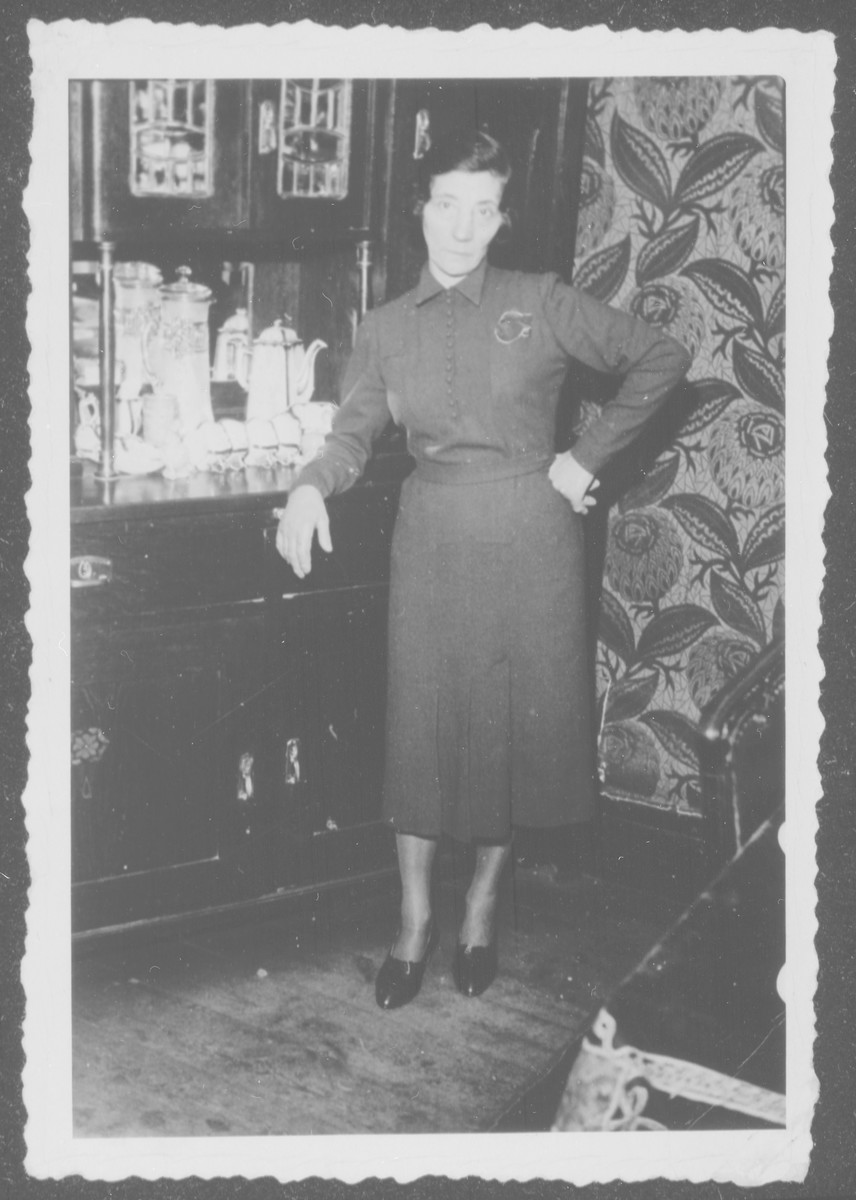 Lova Grochowska poses in her home shortly before the start of World War II.