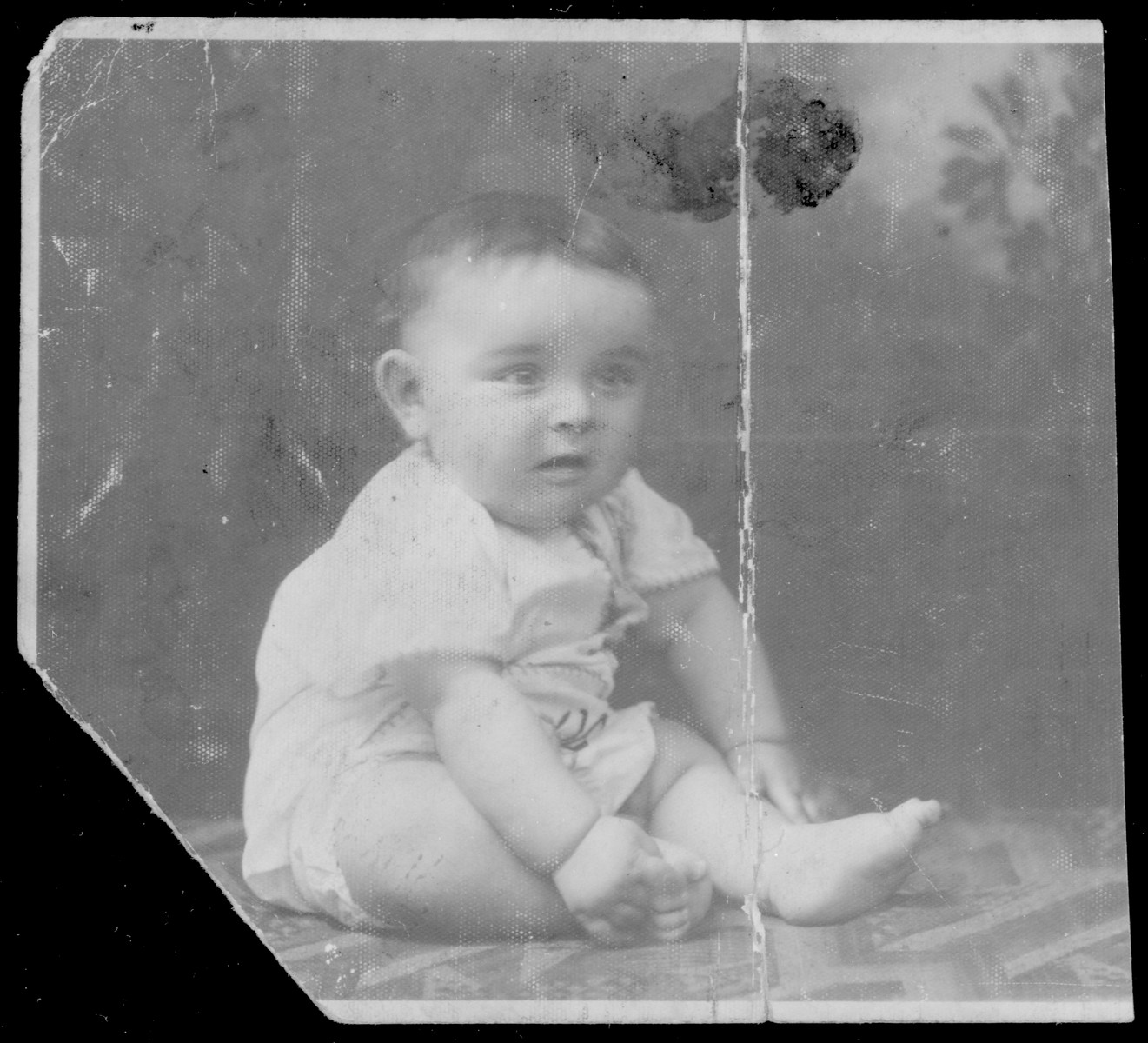 Portrait of Chaim Lehman, the donor's nephew.    Chaim was deported to Auschwitz with his mother Basia and sister Miriam in August 1942.  They all perished.