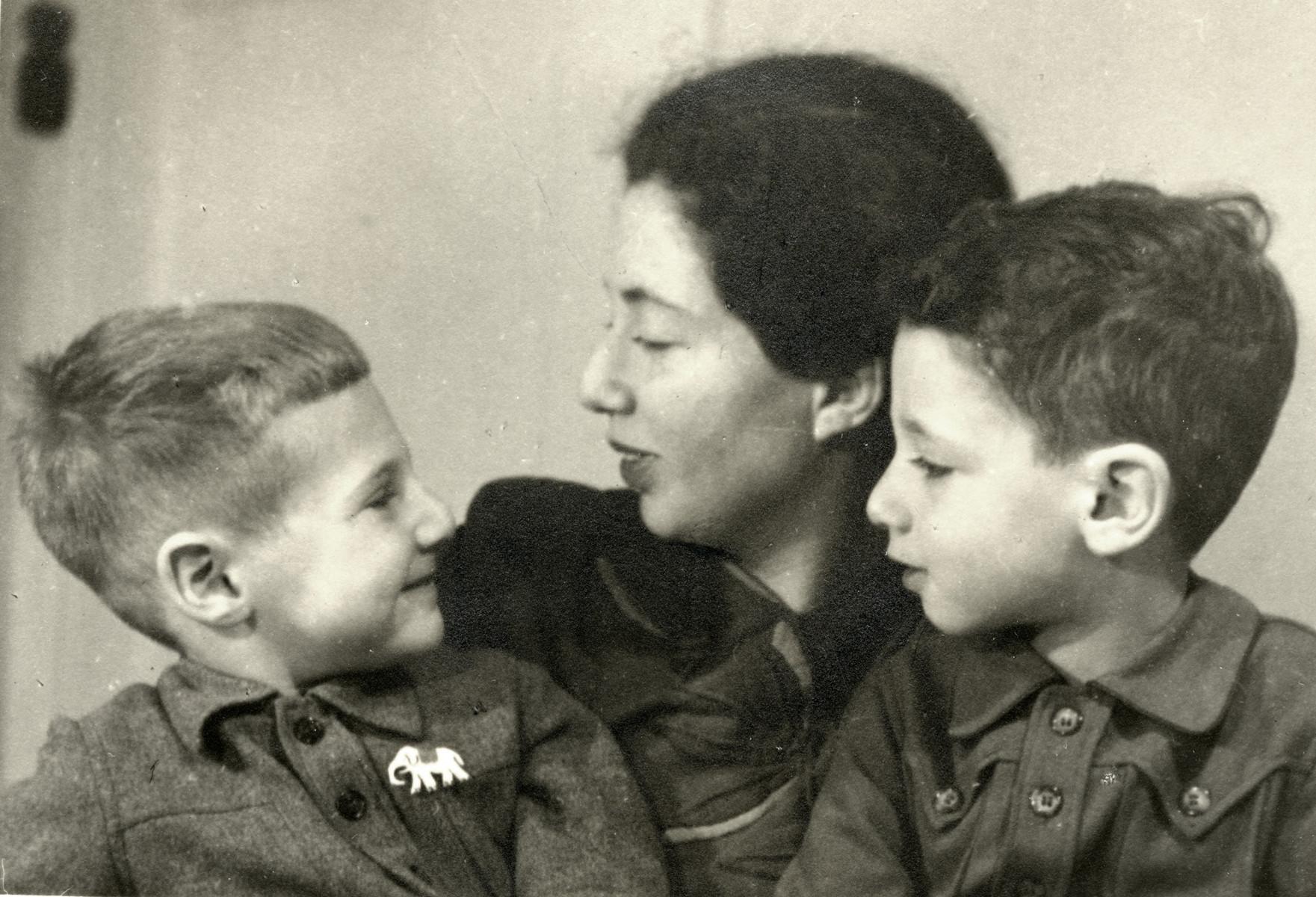 Portrait of Hanan & Eldad Kisch taken by their relative, the noted photographer, Maria Austria.