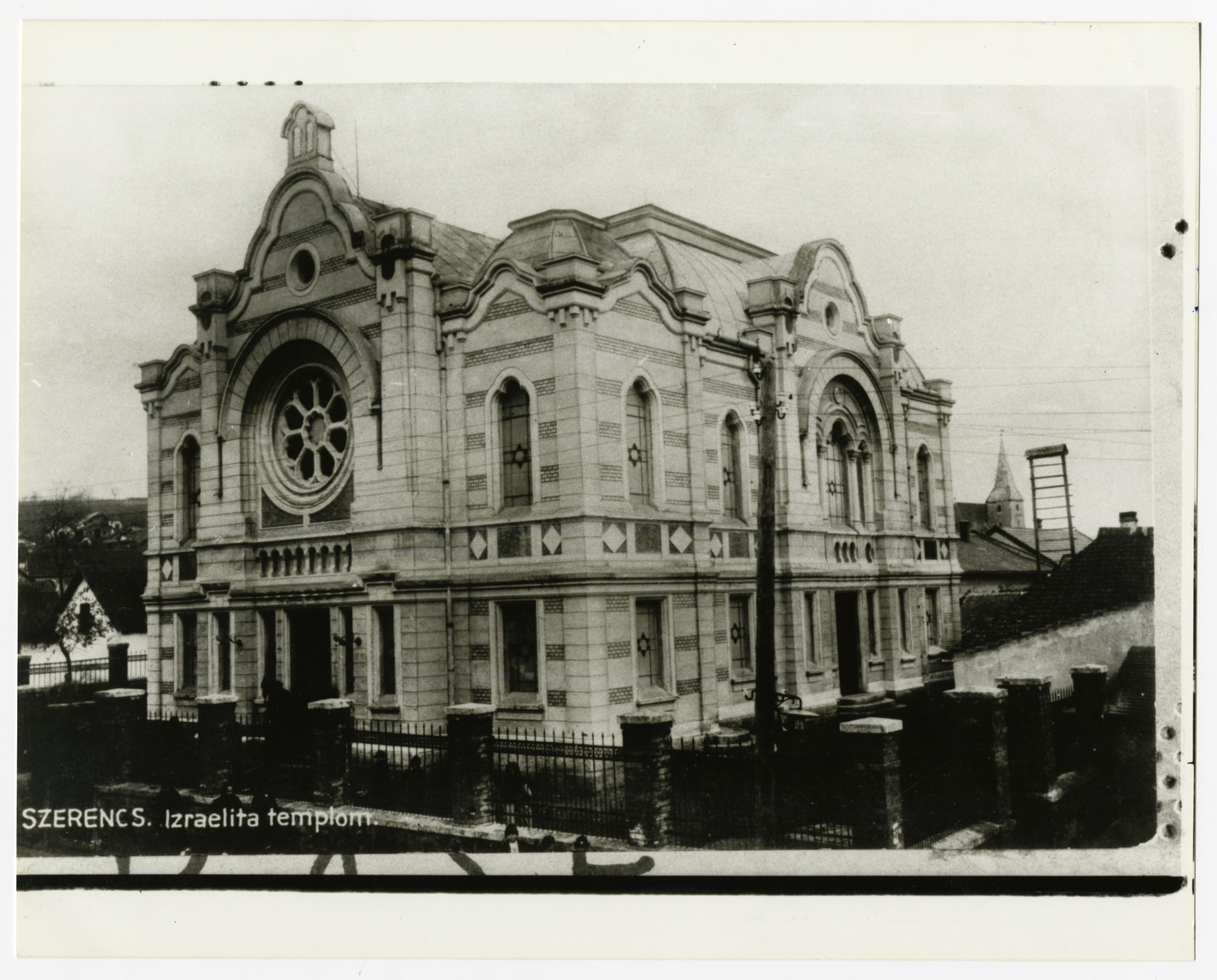 Prewar photograph of the Szerencs synagogue; it was destroyed sometime after the war.