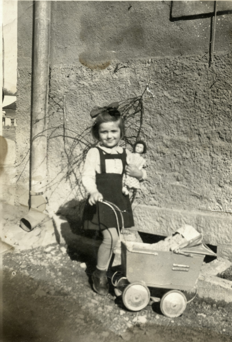 Miriam Steiner plays with her doll shortly before her arrest