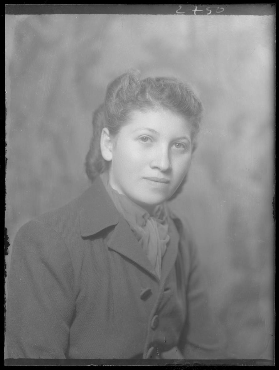 Studio portrait of Margit Herskovits.