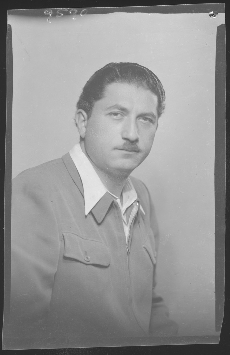 Studio portrait of Dezso Izrael.