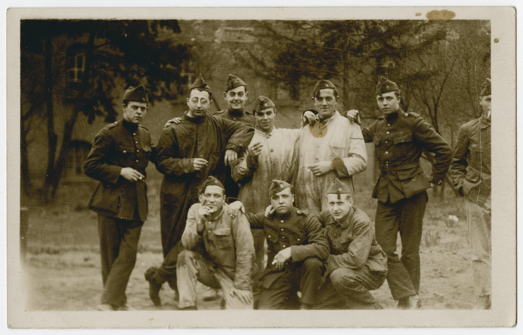 Group portrait of Belgian POWs in Stalag 10C.