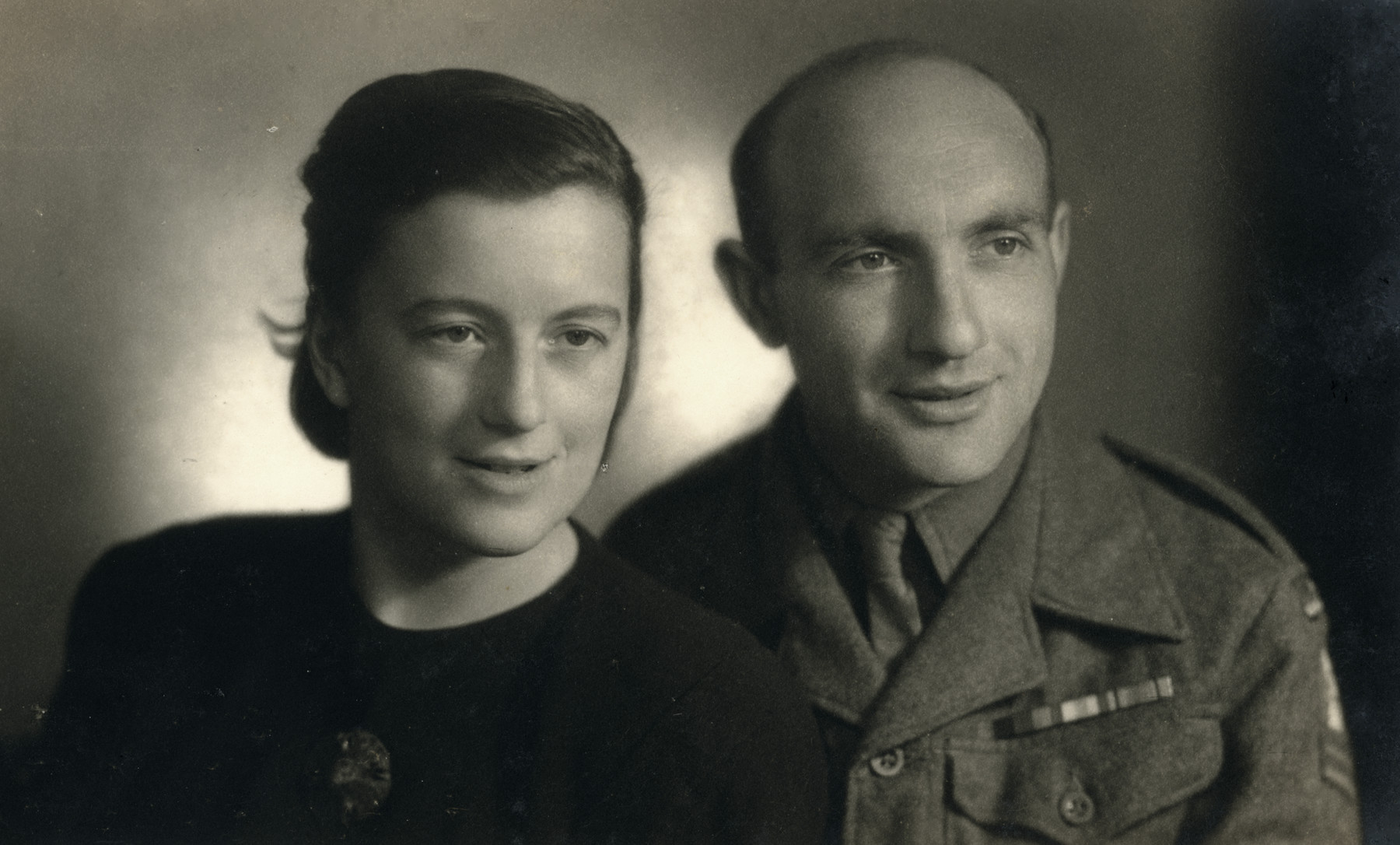 Portrait of Eliyahu Yovel, a soldier with the Jewish Brigade and his wifeTusia (nee Abramovitch).