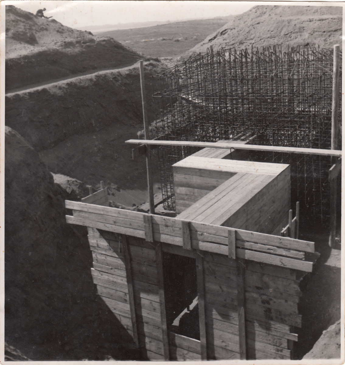 View of a construction site in Hajduhadhaz.