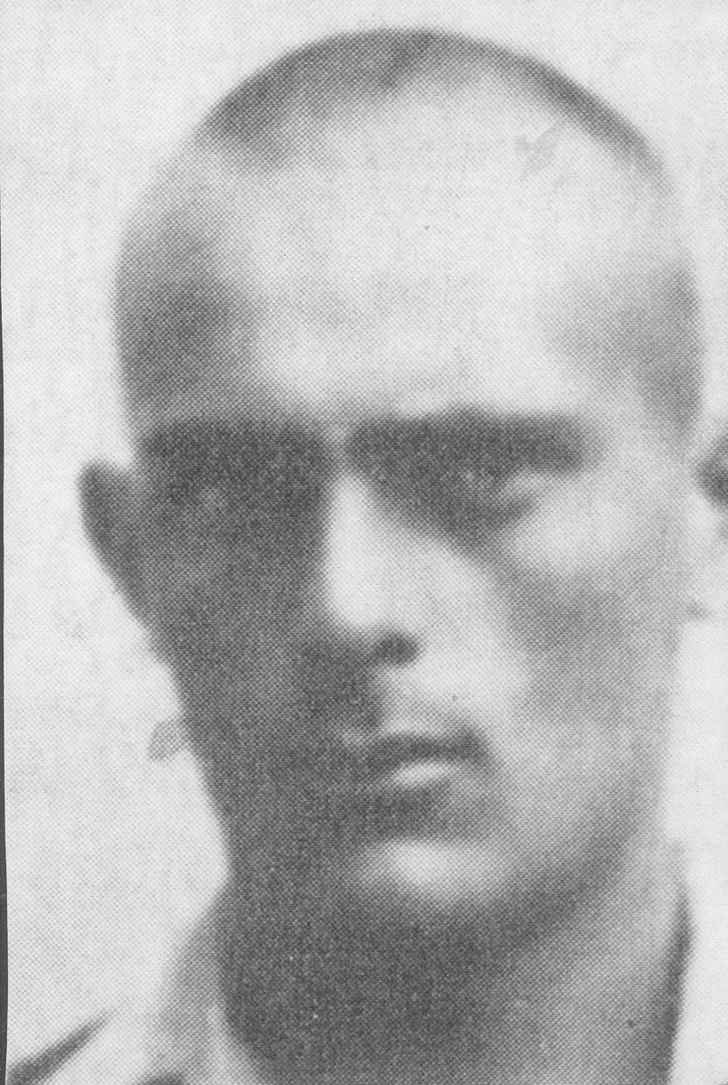 First portrait of Shmuel Willenberg after his escape from Treblinka and used for his false identity papers..