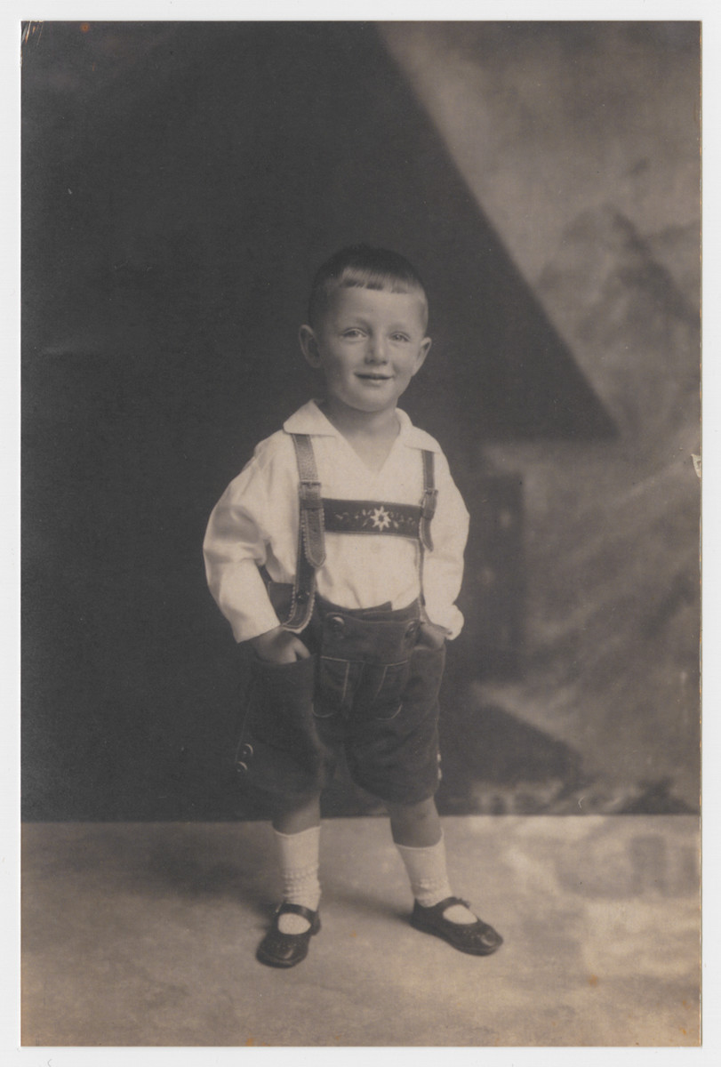 Hans Froehlich at three years old.