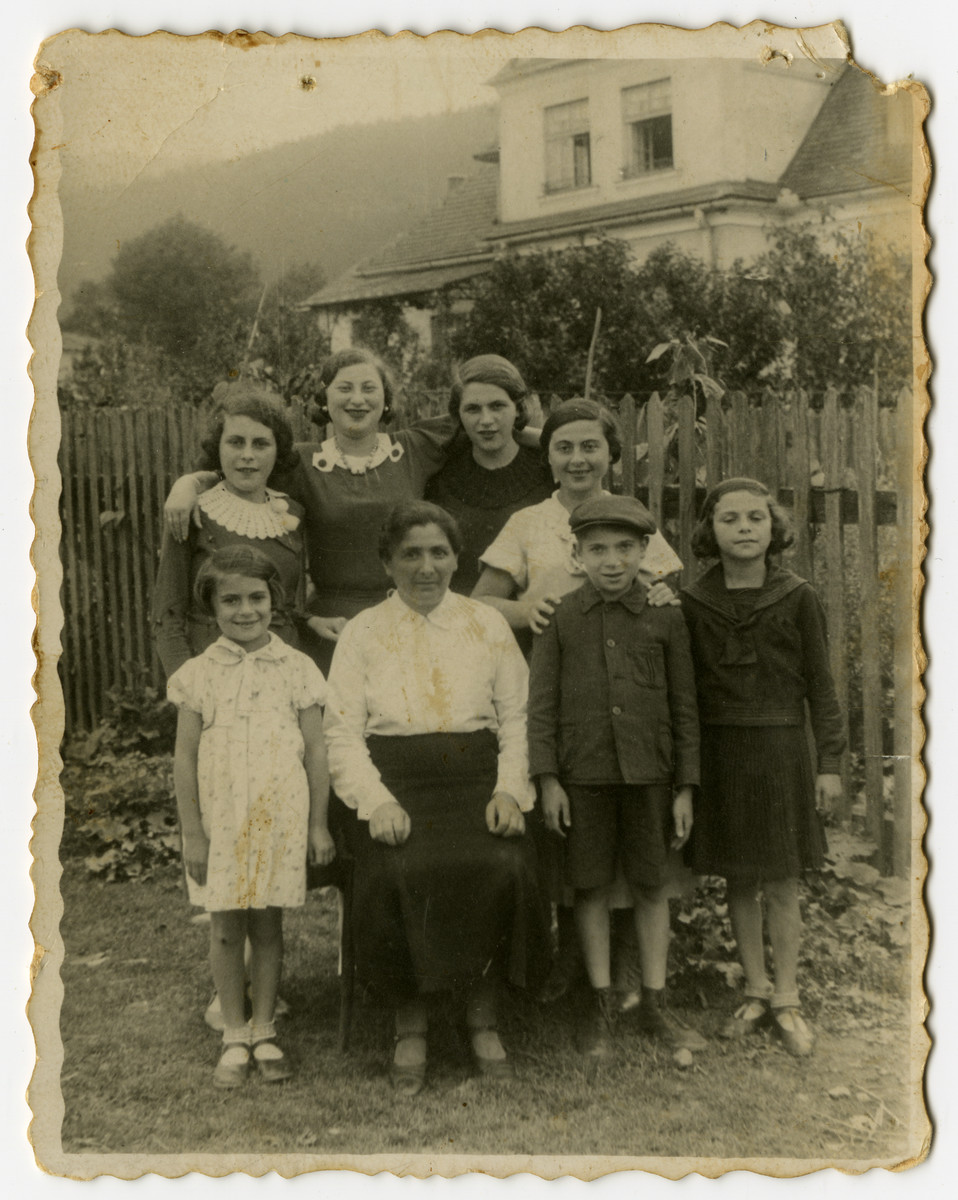 [Family and/or friends of Izak Weber probably in Skole, Poland.]