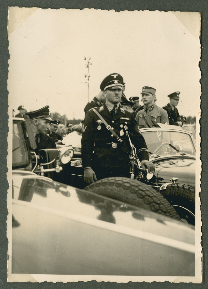 General Joseph (Sepp) Dietrich attends a party rally in Nuremberg.