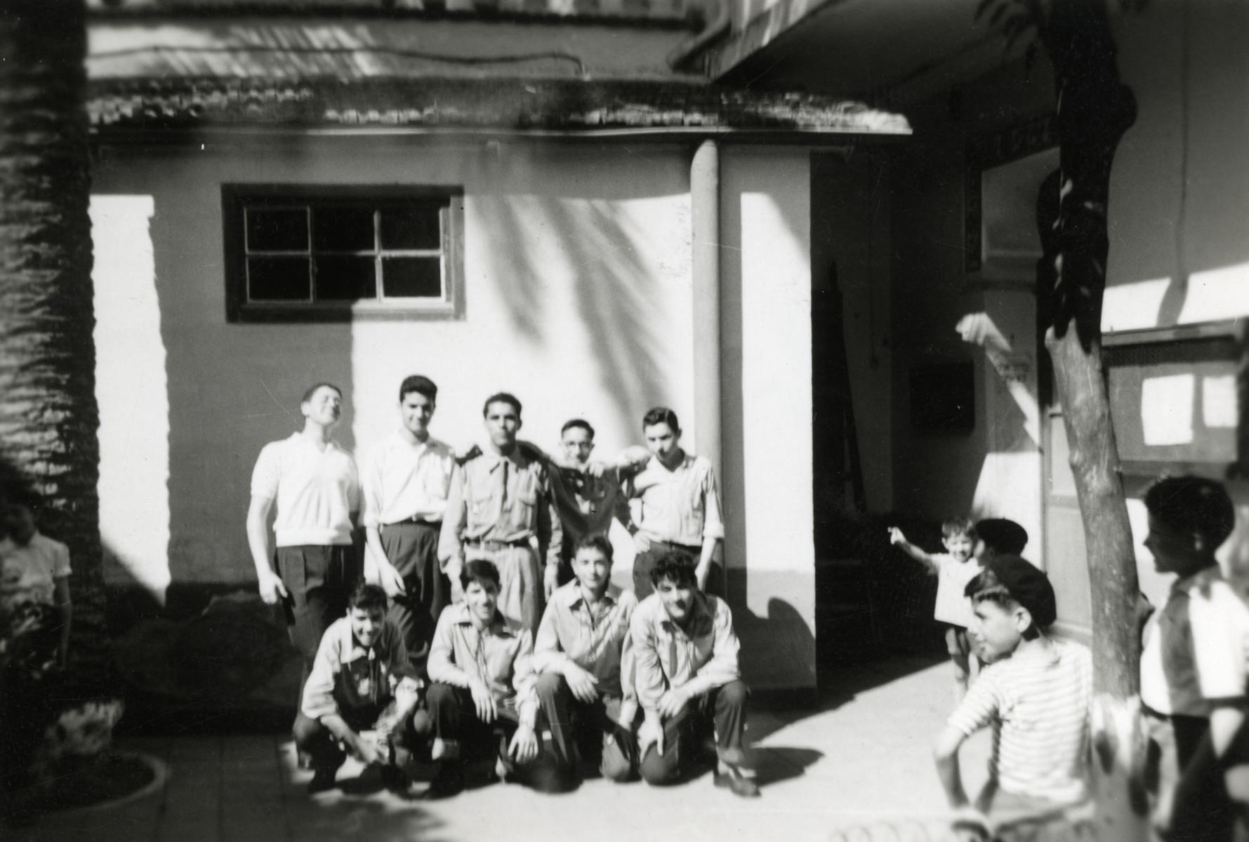 Group portrait of members of the Gordonia Zionist youth movement.