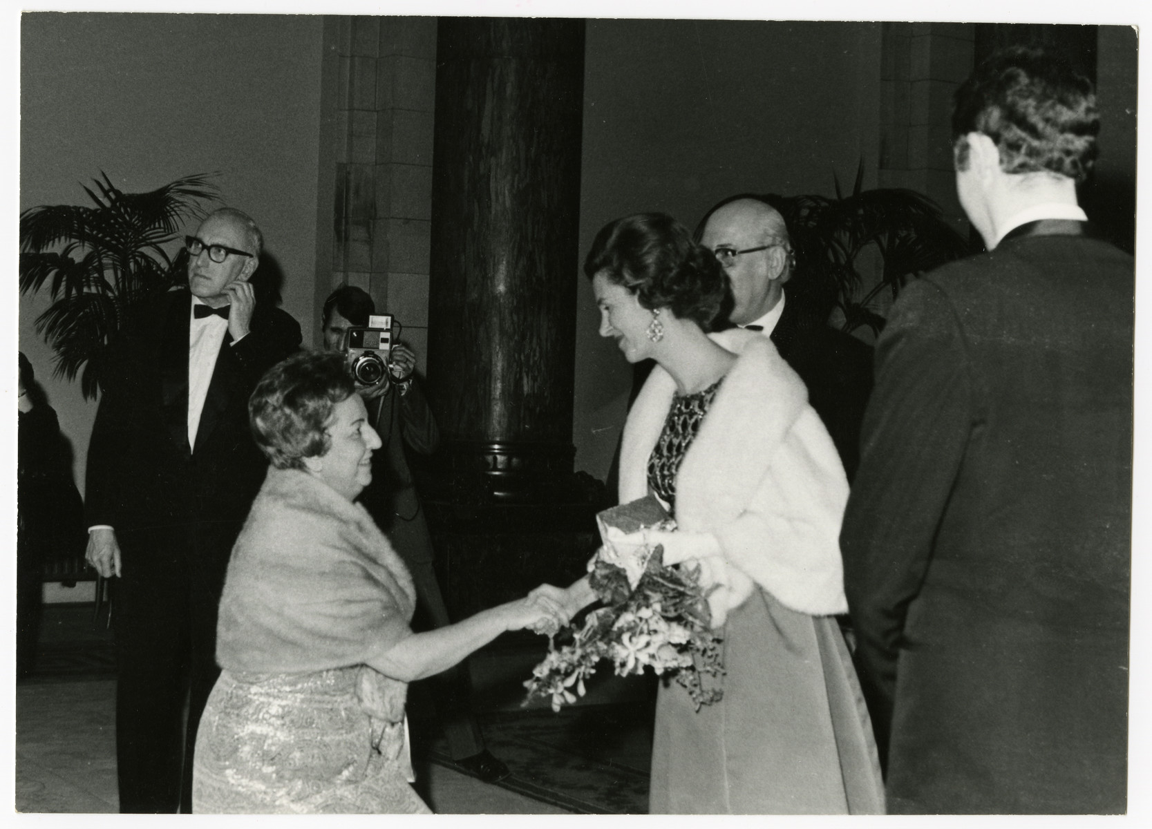 Fela Perelman meets with the Belgian monarch, Queen Fabiola.