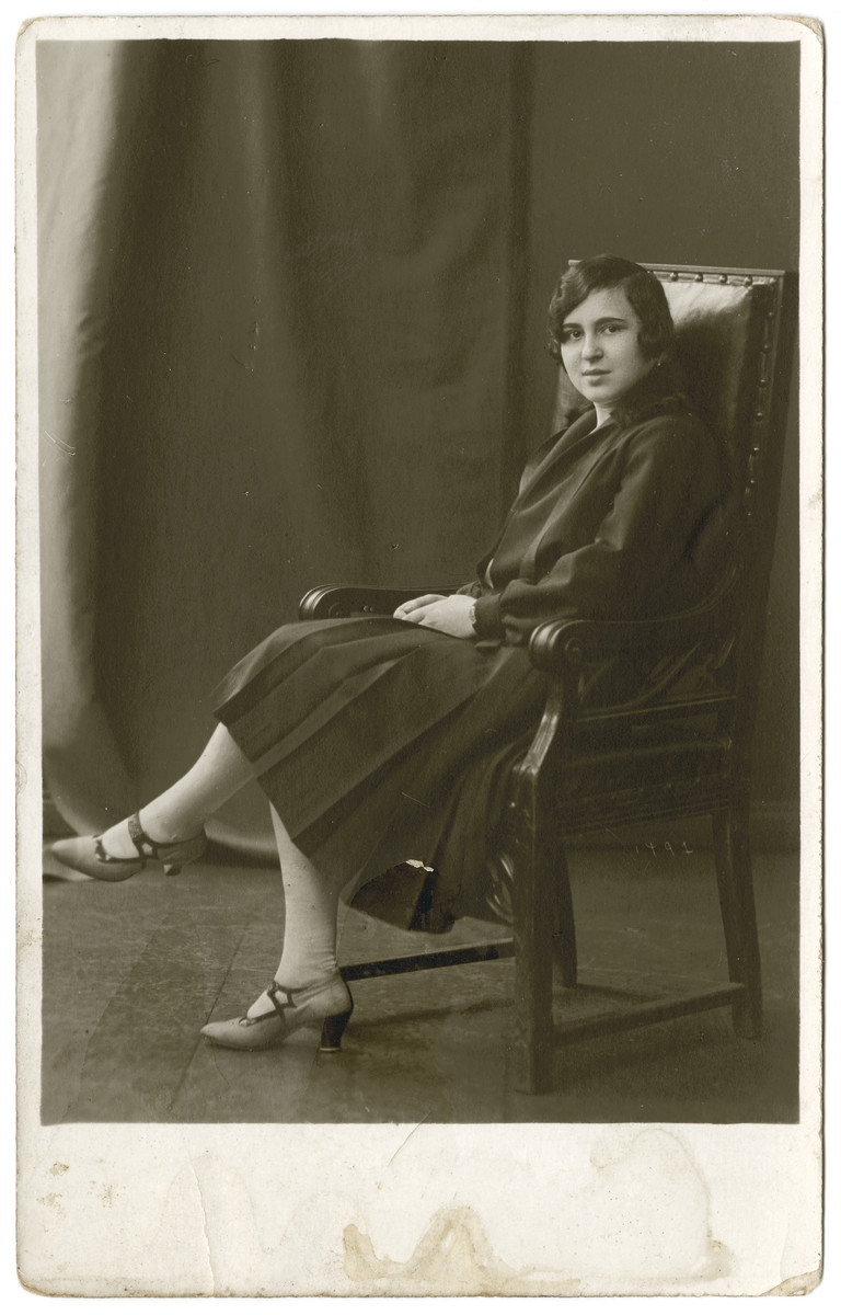 Studio portrait of Dora Ksias.