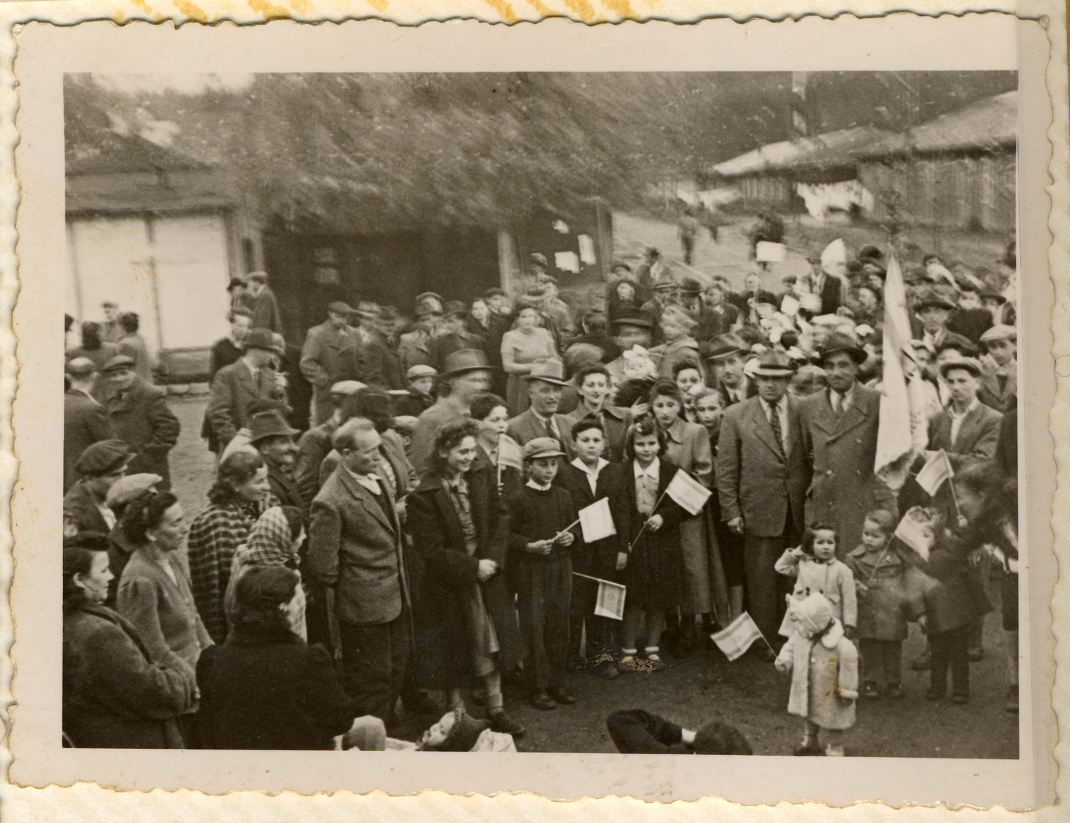 Jewish displaced persons in the Hallein camp celebrate Israel Independence Day.
