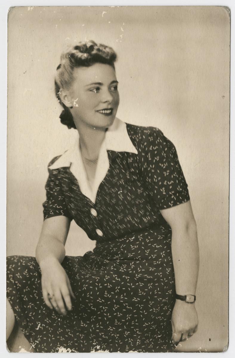 A postwar portrait of Marisia Navrodska, the rescuer of Janina Nebel.