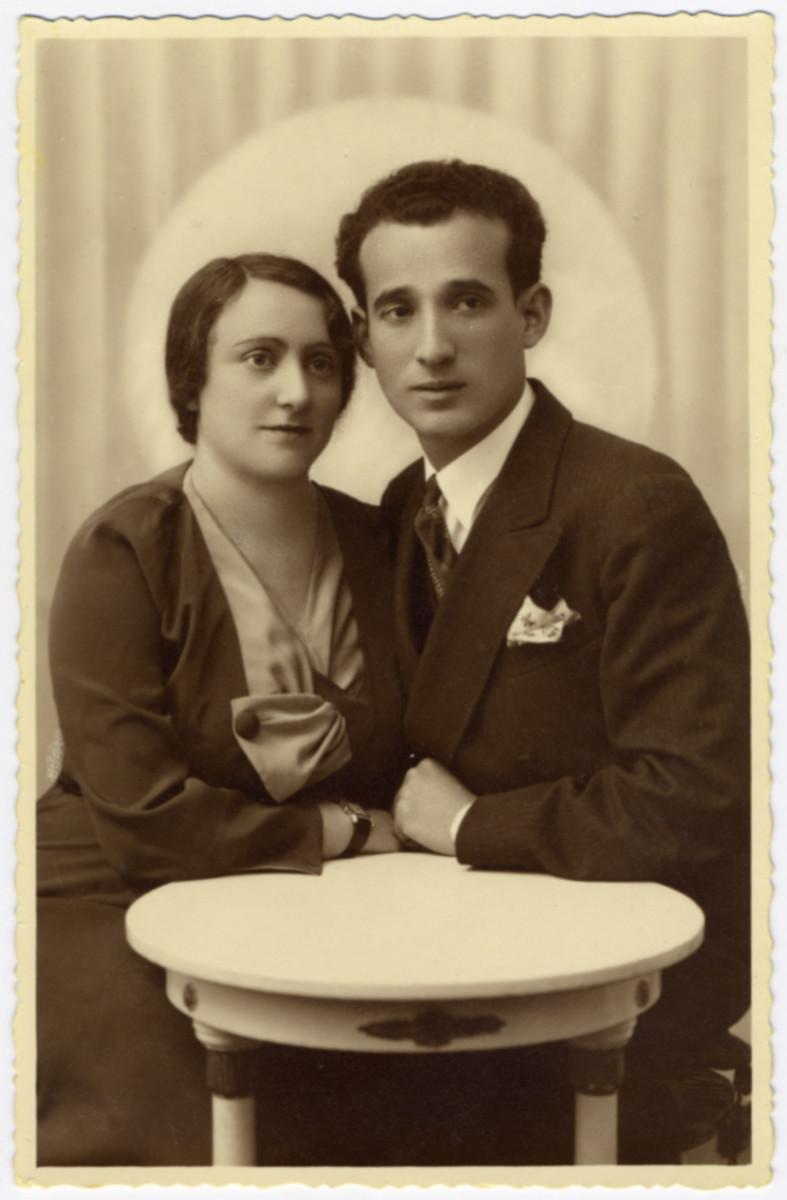 Engagement portrait of Ida Grabel and Israel Dauerman Klinghoffer.