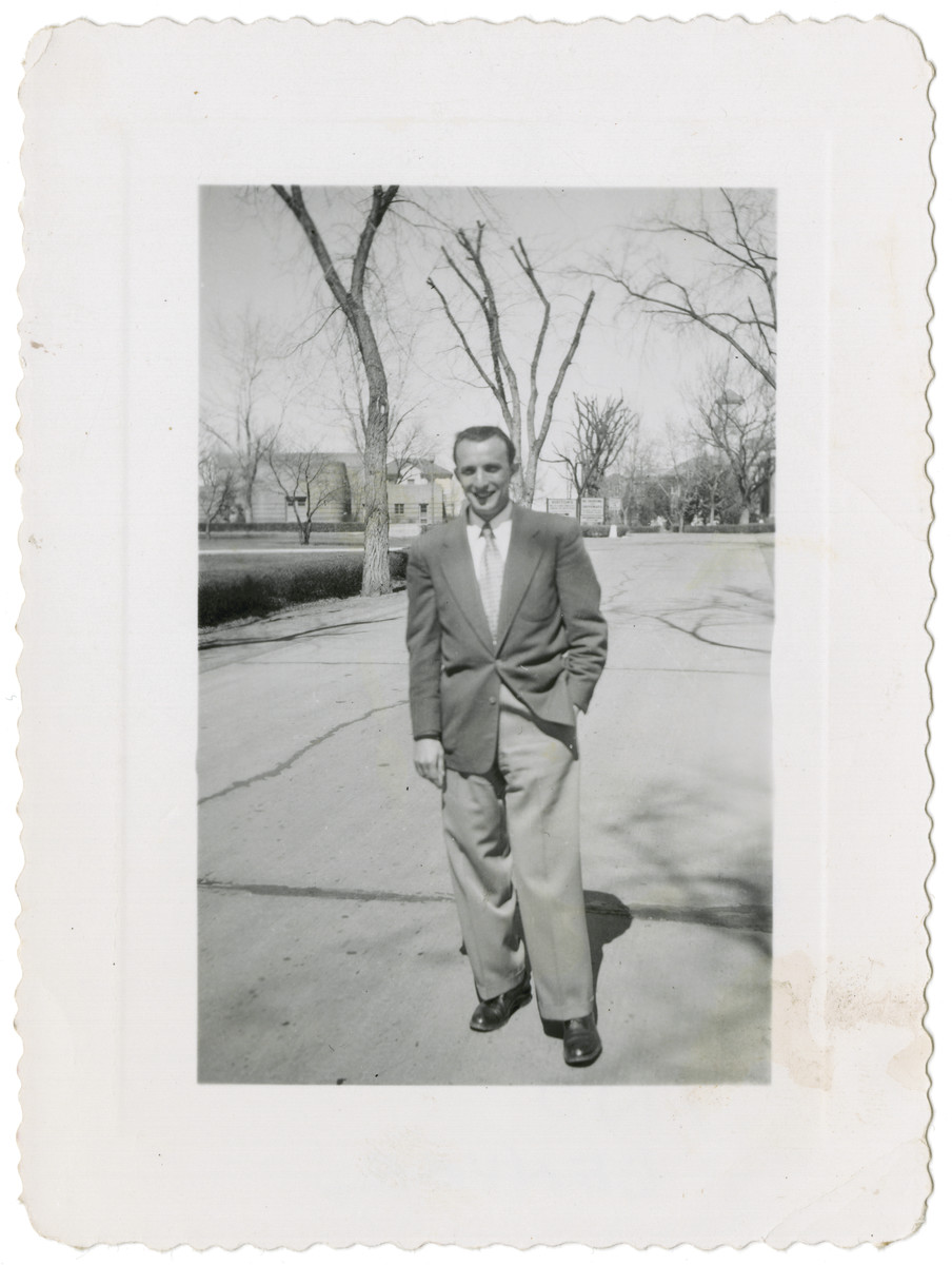 Moshe Adam poses for a photograph in Denver after his arrival in the United States.