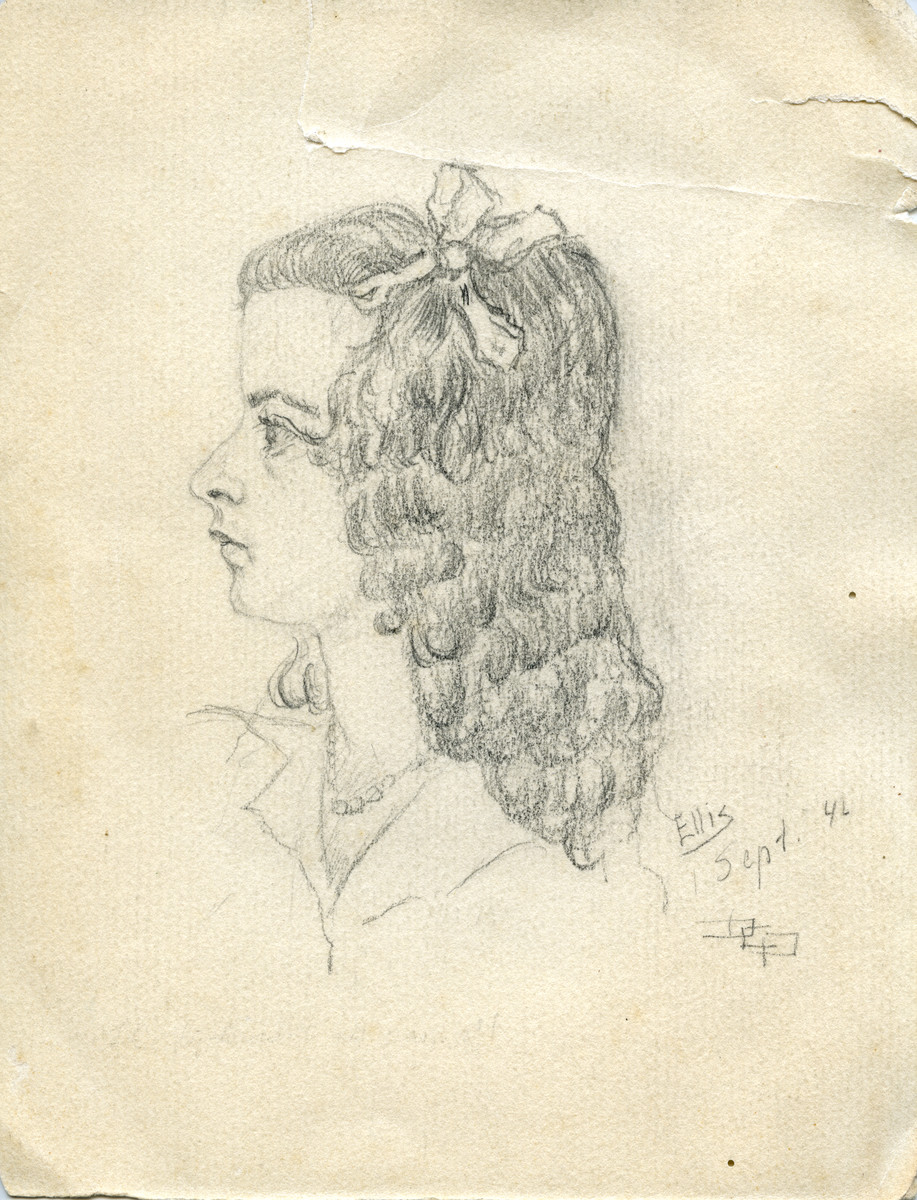 Drawing of Ellis Cohen-Paraira by her father David.