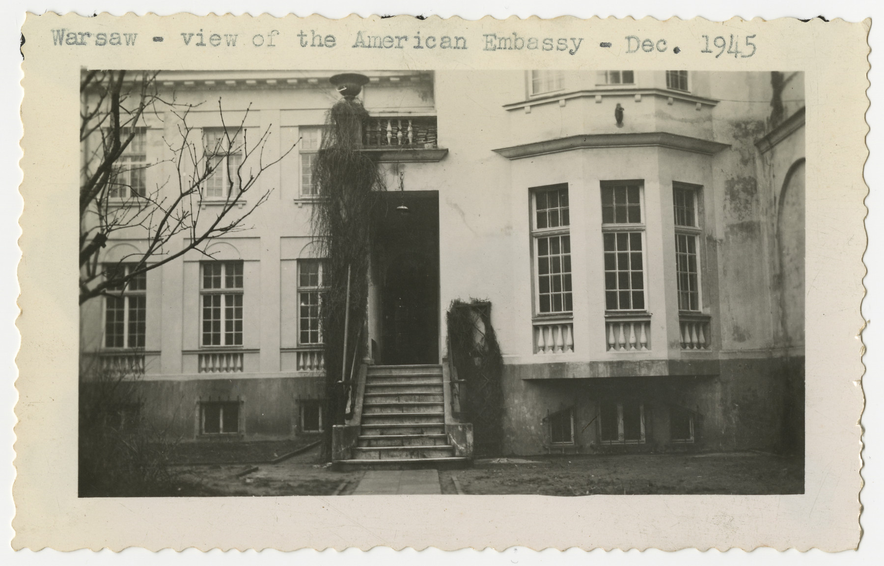 View of the American Embassy in Warsaw.