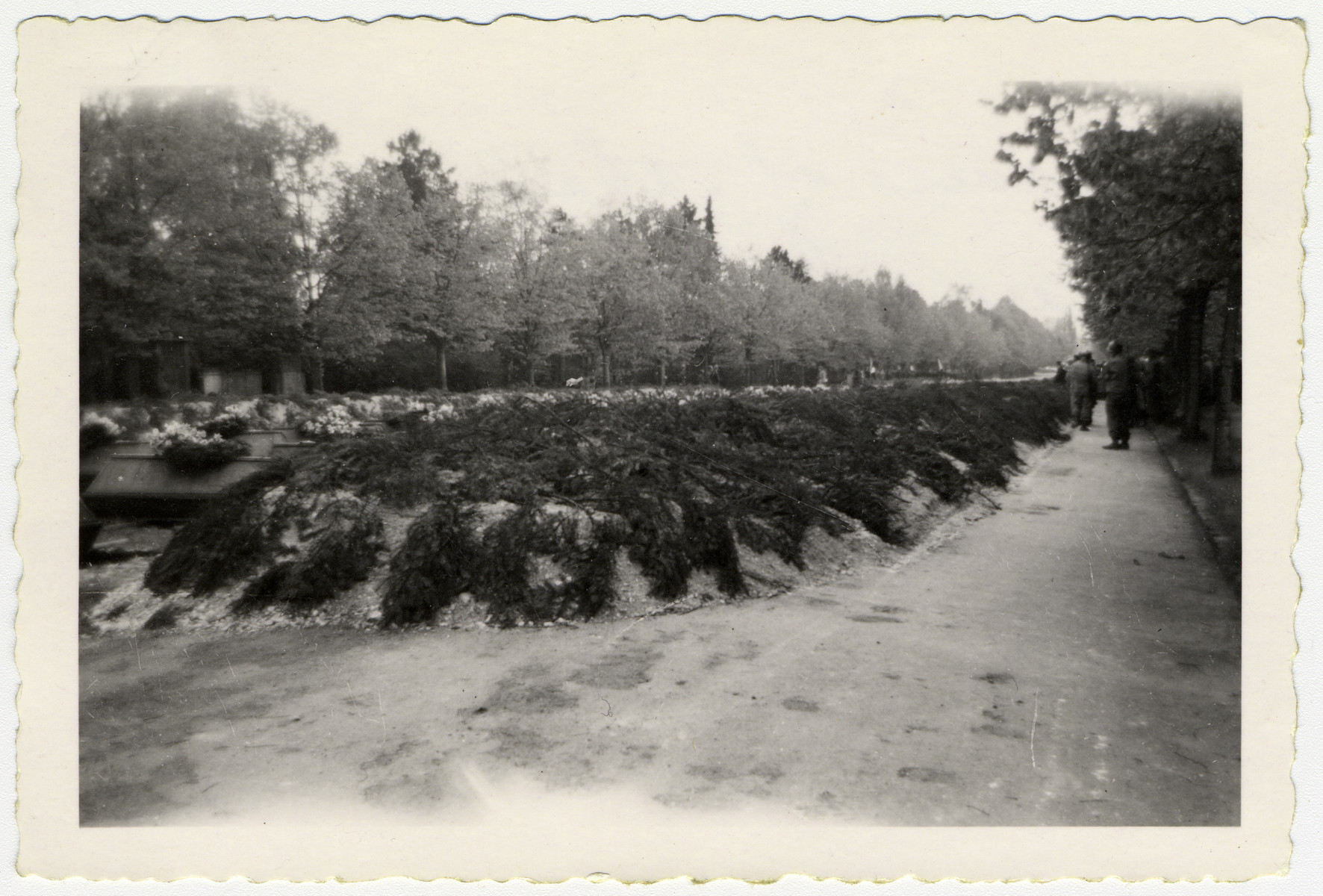 View of the graves of those who were found at Leipzig-Thekla.