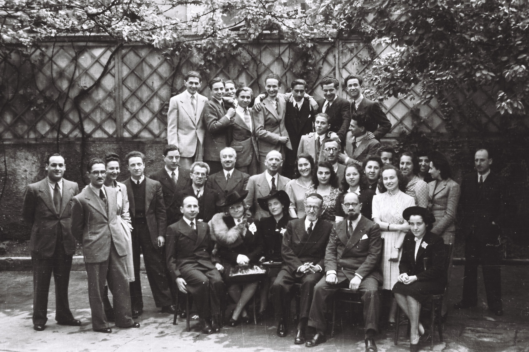 Faculty and students pose for a portrait at the conclusion of the graduation exercises at the Jewish high school in Milan.