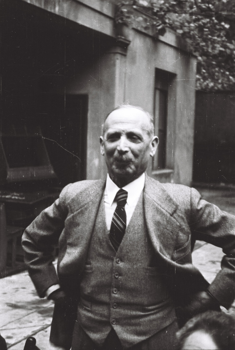 Portrait of Professor Eugenio Levy, the professor of Greek and Latin studies at the Scuolo via Eupili in Milan.