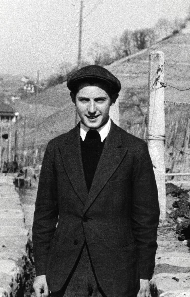 Menachem Mayer poses in Montreux, Switzerland where he was attending the Etz Hayyim yeshiva.