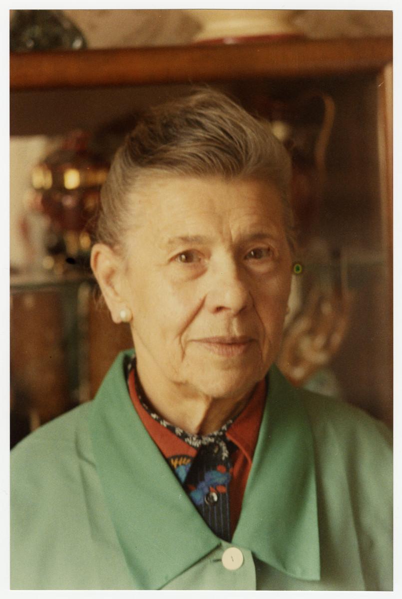 Postwar portrait of Belgian rescuer Adele Vanderlinden.