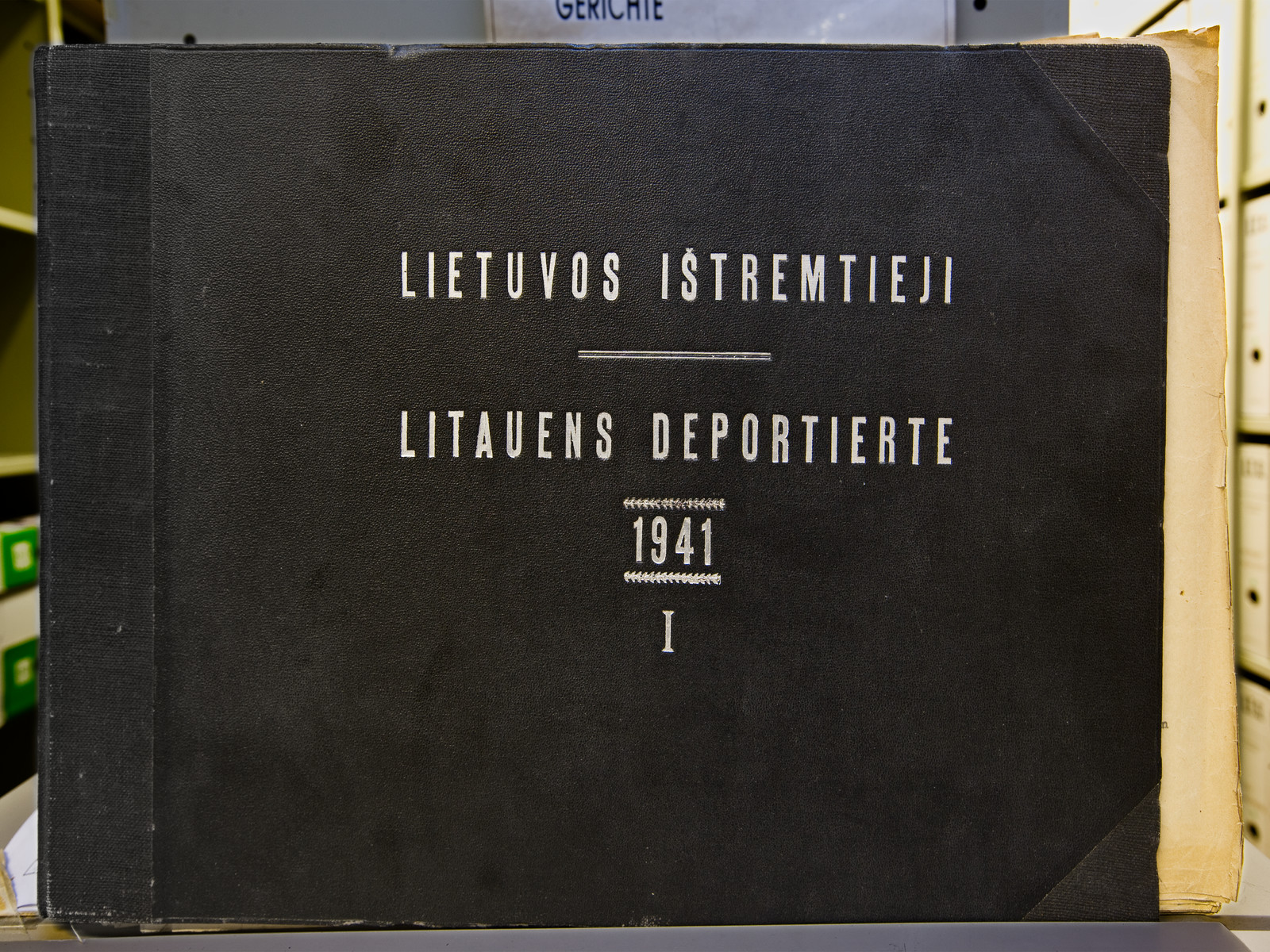 Front cover of I.T.S. Lithuanian deportation book of 1941.