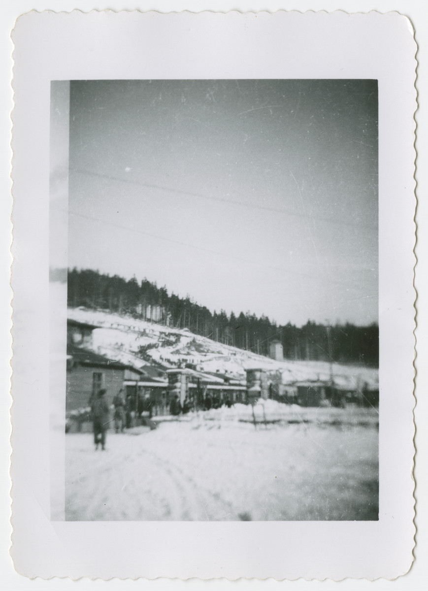 Exterior view of the Flossenbuerg concentration camp.