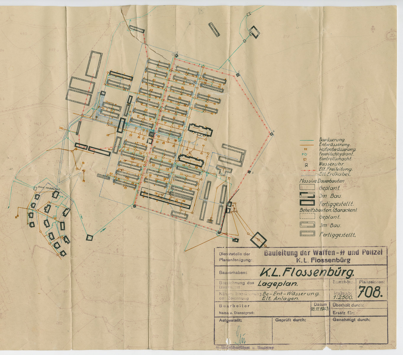 Map of the Flossenbuerg concentration camp.