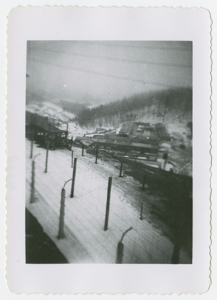 View of the Flossenbuerg concentration camp.