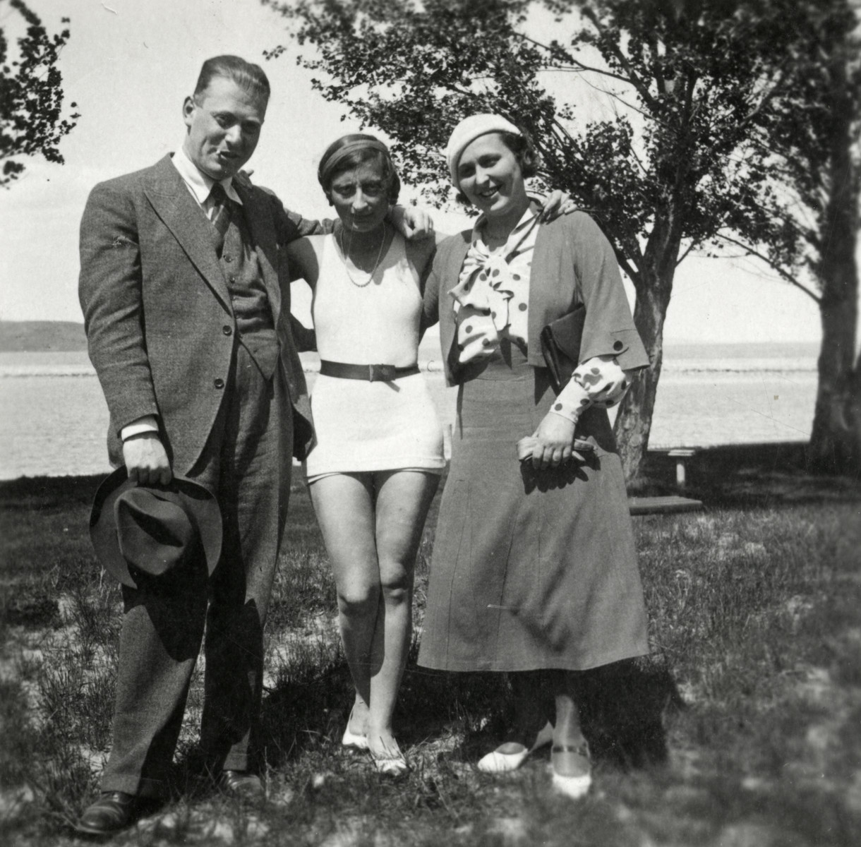 Portrait of three Hungarian Jews.    From left to right are Alexander Steiner, Lori Sandor Leiner and Klara Steiner..