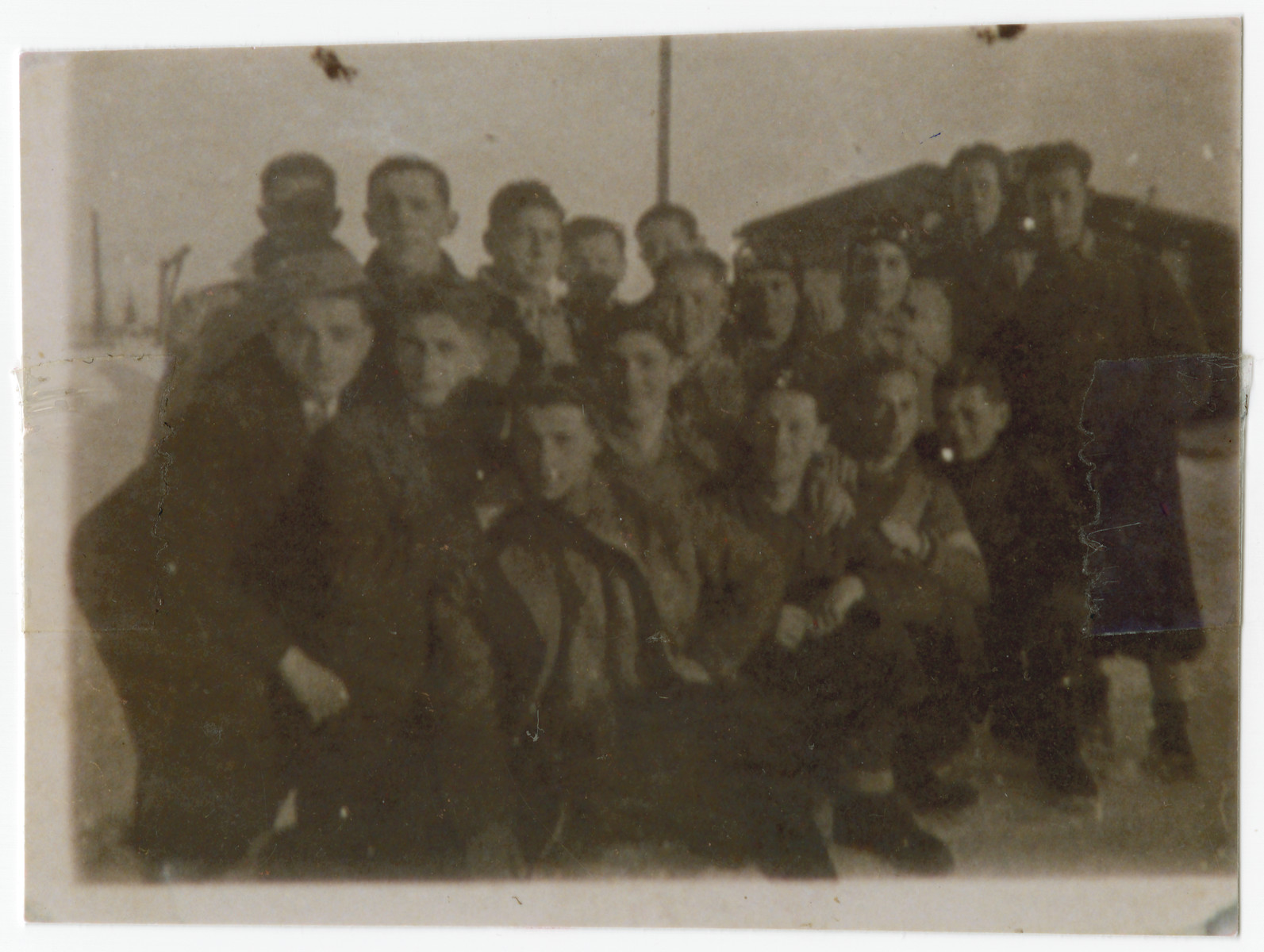 Jewish men in the Gogolin labor camp in Poland.