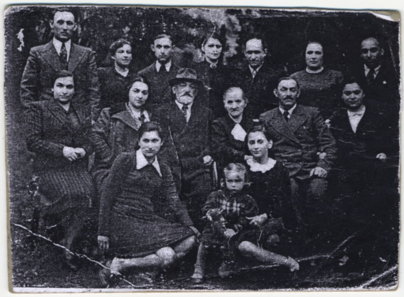 A prewar portrait of the family of Fania Brancovskaja, (lower left) a survivor of the Vilna ghetto,  She is the only survivor of her large family.