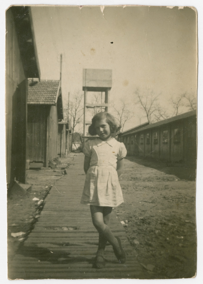 Fanny Fogel poses in the Brens internment camp in southern France.