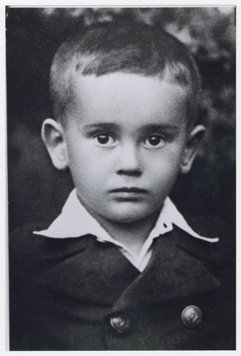 Close-up portrait of Imrich Engel (cousin of the donor) who was killed in Auschwitz at the age of eight.