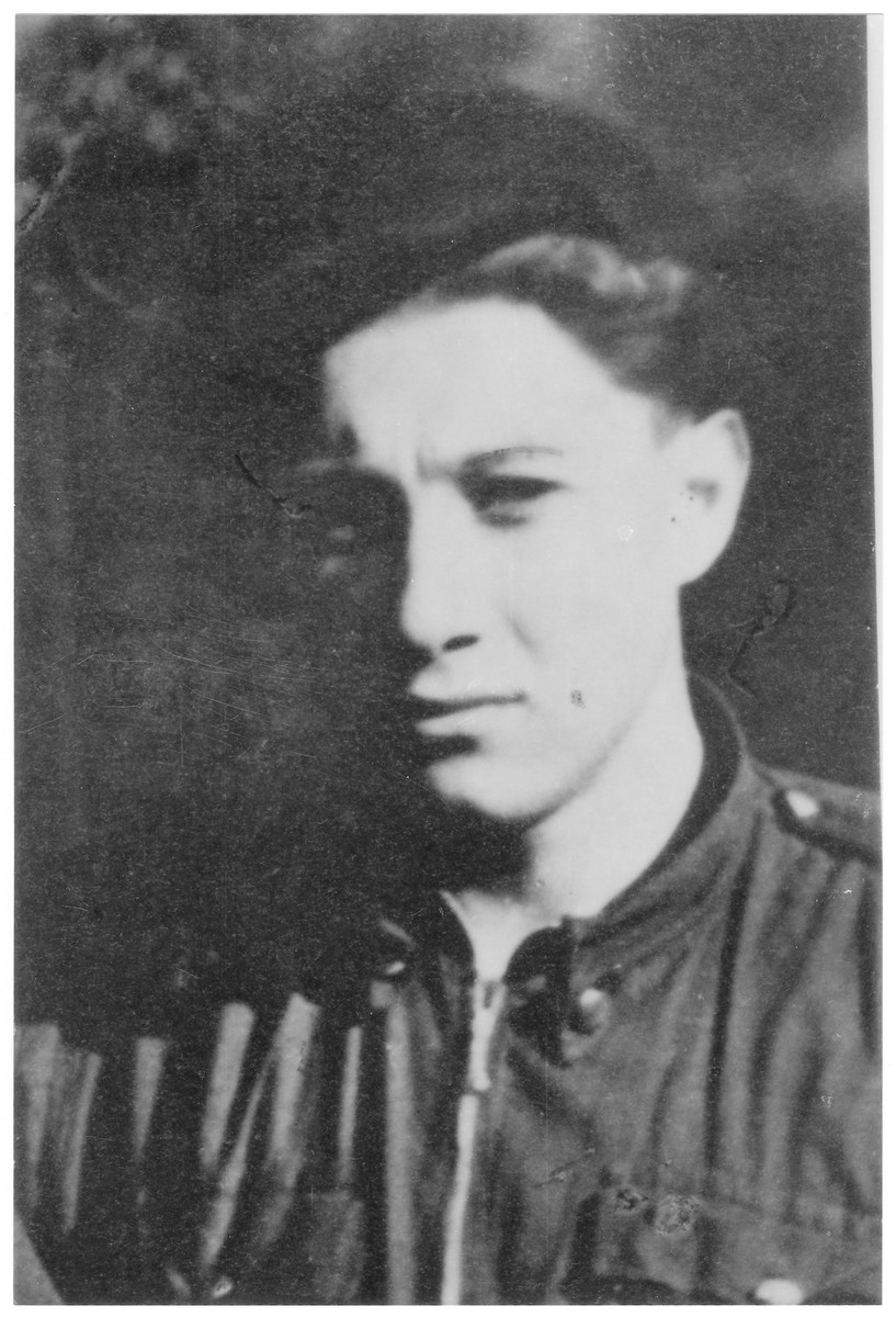 Portrait of Sandor (later Shmuel) Loewenheim , a member of the Hungarian Zionist youth resistance organization.