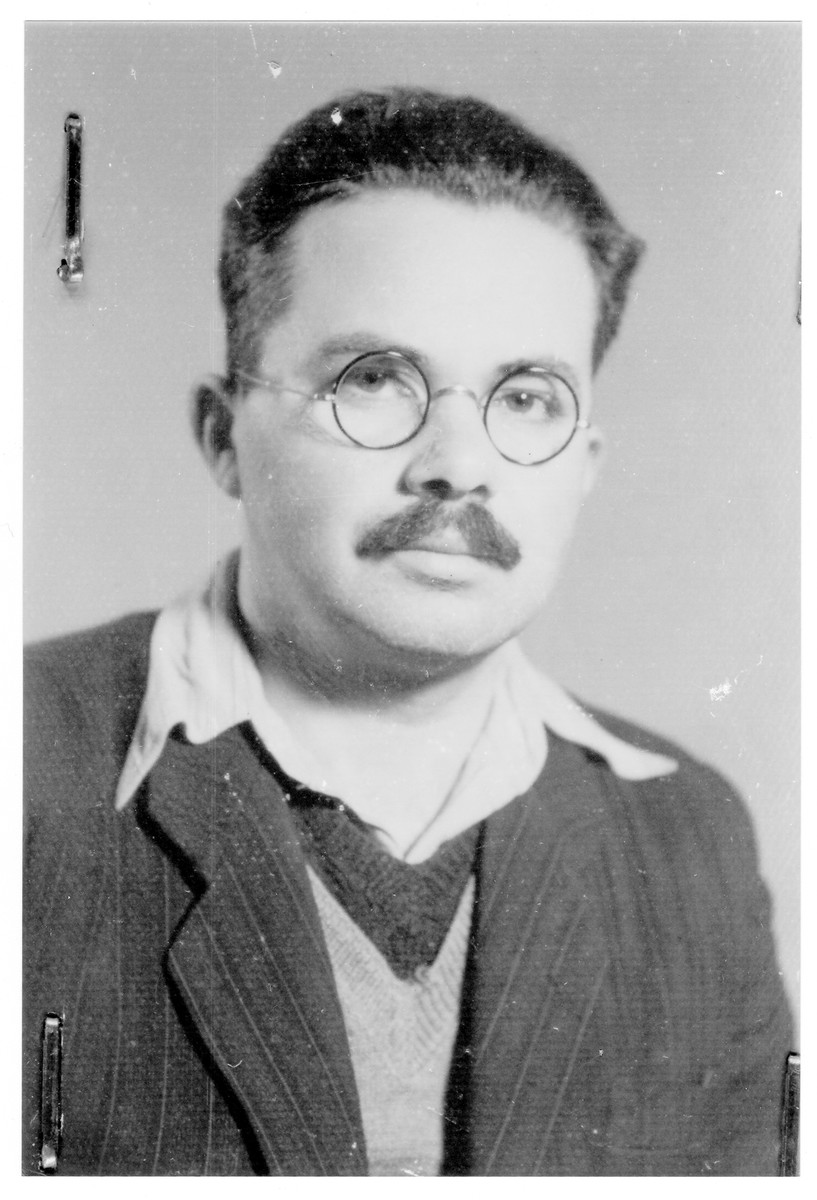 Portrait of Dr. Dezso (Adonyahu) Billitzer, a member of the Hungarian Zionist youth resistance organization.