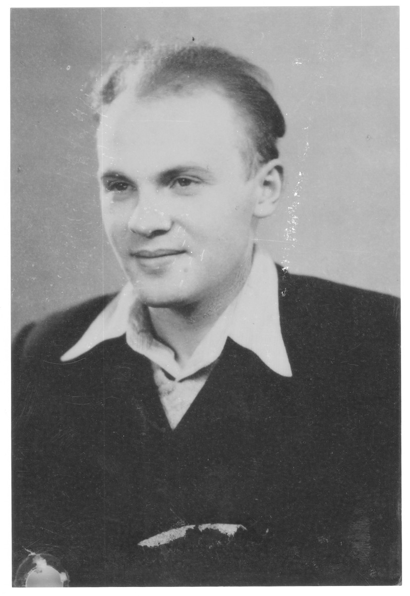Portrait of Laszlo Loewy (later Prof. Arie Levi), a member of the Hungarian Zionist youth resistance organization.