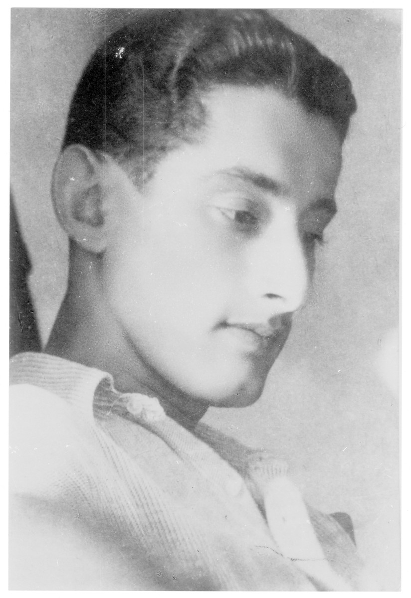 Portrait of Andras (Avigdor) Freiman, a member of the Hungarian Zionist youth resistance organization.