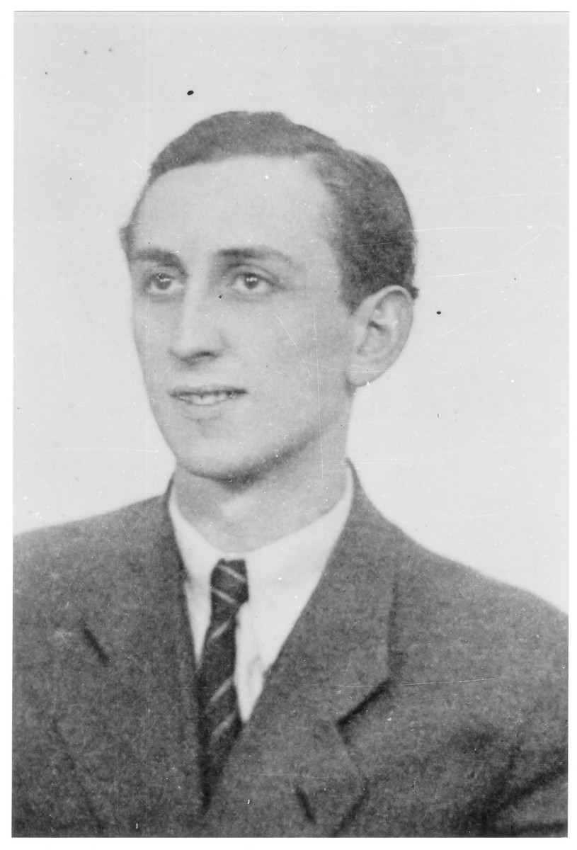 Portrait of Dezso (David) Friedmann, a member of the Hungarian Zionist youth resistance organization.