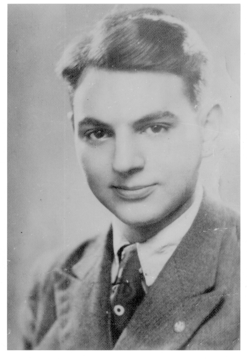 Portrait of Gyorgy (Mordehai) Weisz, a member of the Hungarian Zionist youth resistance organization.