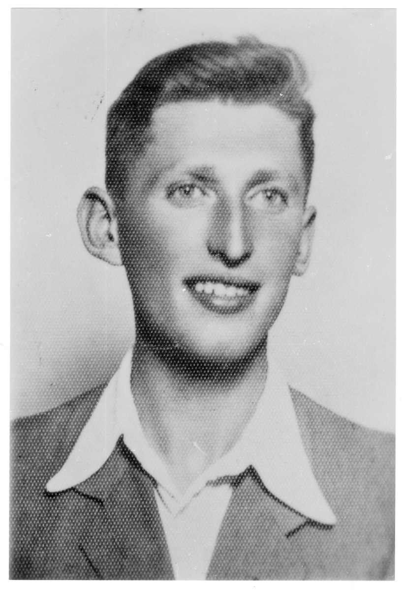 Portrait of Joseph Gardos, a member of the Hungarian Zionist youth resistance organization.