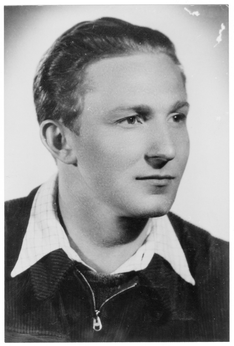 Portrait of Jozsef Mayer (later Joseph Meir) , a member of the Hungarian Zionist youth resistance organization.
